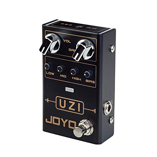 JOYO UZI R-03 R Series Distortion Heavy Metal Pedal with BIAS Knob Switch Between American and British Distortion for Electric Guitar Effect (R-03)