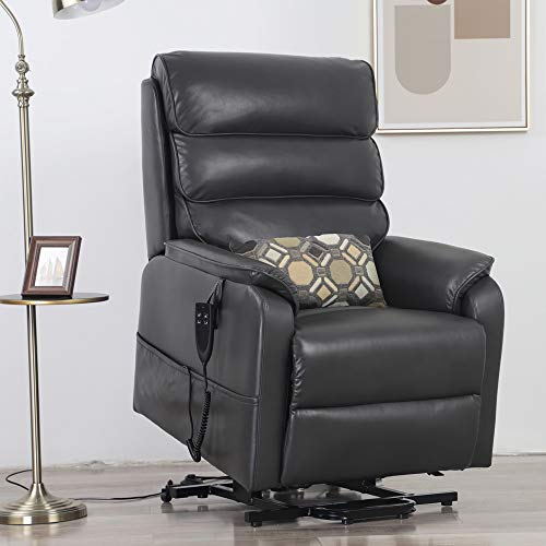 Irene House Dual OKIN Motor Lift Chair Recliners for Elderly Infinite Position Lay Flat Recliner Electric Power Lift Recliner Chair Sofa Without Heat Massage