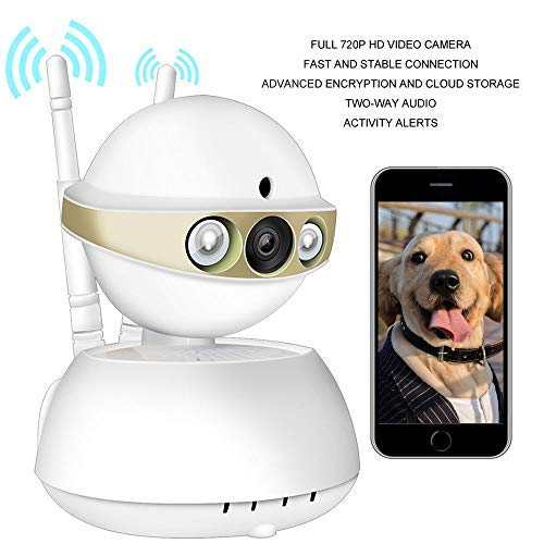 Security Camera WiFi Camera-ALIKE 720P Wireless Camera Indoor Wireless Security IP Camera Full HD Home Video Surveillance with HD Night Vision,Motion Detection,Two-Way Audio,Cloud Storage (Gold)