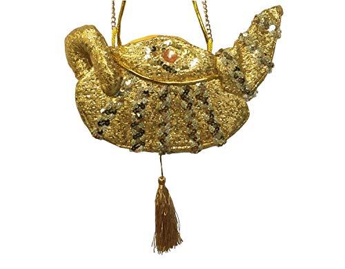 shoperama Sac à main femme lampe miracle or 1001 nuit du désert Princesse Aladin Paillettes Sac Accessoire de déguisement Conte de fées