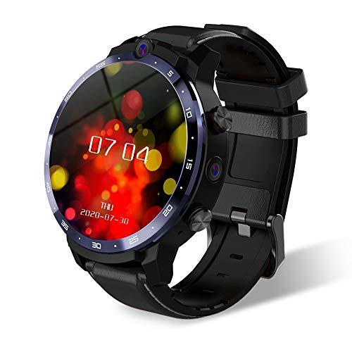Fesjoy LEM12 Pro 4G LTE Smartwatch 4 + 64 GB Android 10.0 GPS Smartwatch 5MP + 8MP Doppelkameras Herzfrequenzmesser Schrittzähler Wecker Kalender wasserdichte Sportuhr Compatible with Android