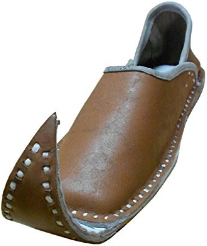 Kalra skapade människornas traditionella indiska Khussa Mojari Mojari Mojari läder Loafer Flats  rättvisa priser