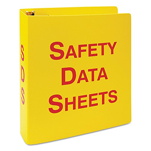LabelMaster GHS SDS Binder, 8 1/2 x 11, 2 1/2quot; Capacity, Yellow/Red