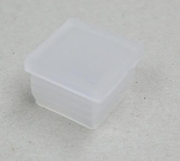 12 Pcs 1 1 4 Od Insert Glides For Metal Chairs In Restaurants Or Homes Flat Bottom Semi Clear W