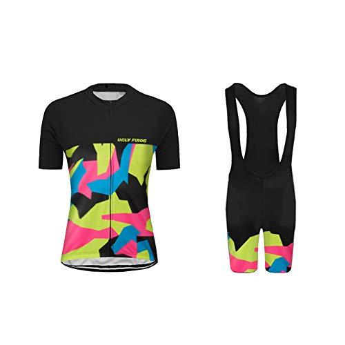 Uglyfrog Womens Biking Clothes Fashion Cycling Jersey and Shorts Set