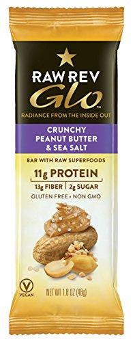 Raw Revolution - Raw Rev Glo Bar Crunchy Peanut Butter & Sea Salt - 12 Bars