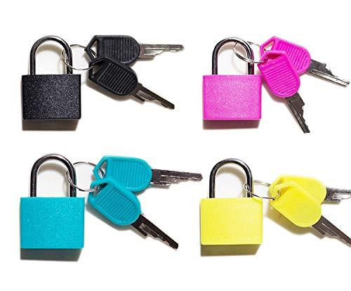 Vorhängeschloss-Sicherheit Sperren bunt 4 Kombination Sicherheit Vorhängeschlösser mit Schlüssel (Vorhängeschloss Bunt)