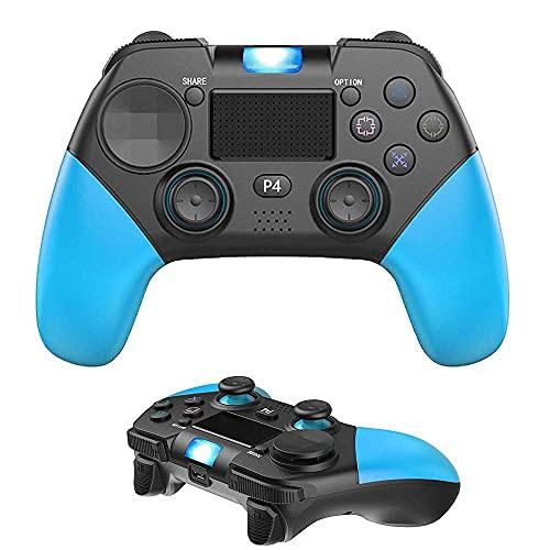 Chtom PS4 Controlador Bluetooth Gaming Controller Gamepad inalámbrico for PS4 Consolas,PC,Androide,VAPOR,Controlador con función de audio de doble vibración del panel táctil,intercambio instantáneo de