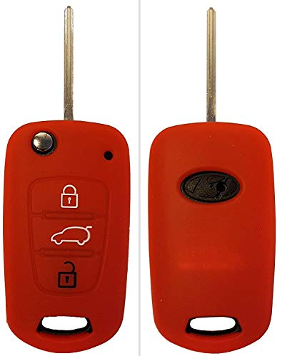 CK+ Funda para llave de coche Kia, de Silicona, para Rio, Ceed, Picanto, Optima, Carens
