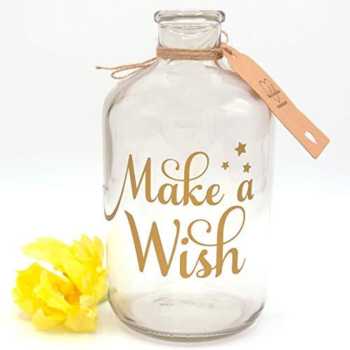 Spardose   Wunscherfüller   Make a Wish   Gold   Geldgeschenk   Sparflasche   Sparbüchse   das ideale Geschenk
