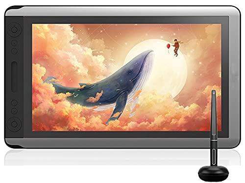 Xyfw Monitor De Tableta Digital con Lápiz, Monitor De Dibujo Gráfico, Pantalla con Lápiz con Función De Inclinación del Lápiz Sin Batería para Win Mac