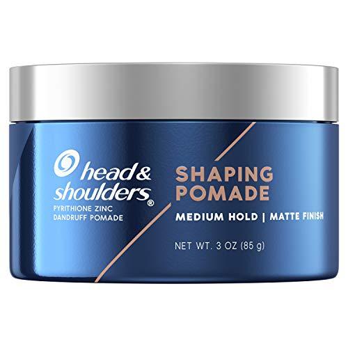 Head & Shoulders Anti-Dandruff Shaping Pomade for Men, Medium Hold, Matte Finish, No Shine, 3 Oz