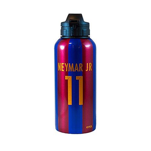 F.C. Barcelona Aluminium Trinkflasche Flasche Neymar Official Merchandise (Einheitsgröße) (Rot / Blau)
