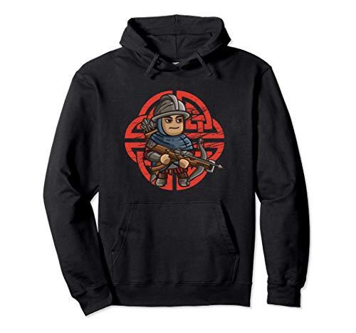 Antik Armbrust Soldat Mittelalter Krieger Bogenschießen Pullover Hoodie