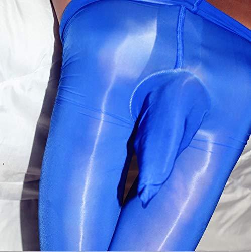 YG& pour des Hommes Sexy JJ Ouvrir des fichiers Collants Collants Body Bas,Blue,JJclosed
