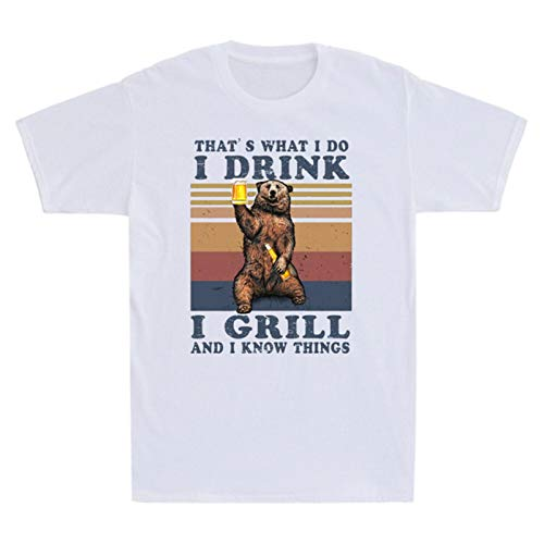 Hqmin Bear Drinling Beer That's What I Do I Drink I Grill an