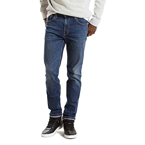 Levi's Men's Big and Tall Big & Tall 502 Regular Taper Fit Jeans, Panda - Advanced Stretch, 42W x 36L