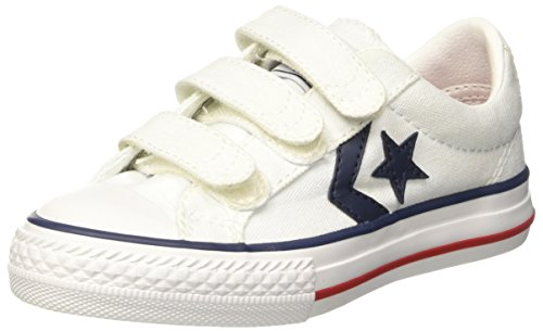 Converse Star Player 315660 - zapatos para niño de color blanco, (Blanc Marine), 33 EU
