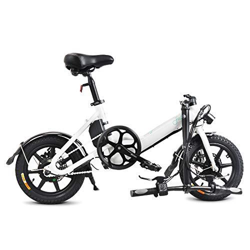FIIDO D3 Vélo électrique mysticall pliant pour adulte, vélo électrique, scooter électrique 14 pouces avec phare à LED, bicyclette électrique pliable 7,8 Ah avec frein à disque, jusqu'à 25 km/h