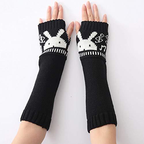 MKDASFD 2 Paar Mode Frauen Winter Handschuhe Damen Handschuhe Warme Erwachsene Feste Gestrickte Handschuhe#4