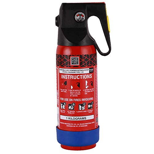 Ceasefire Powder based Car & Home Fire Extinguisher (Red) - 1 kg