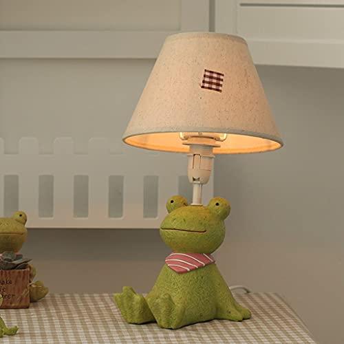 LZQBD Lámparas de Mesa, Lámpara de Niño Dormitorio de Noche Lámpara de Noche Dibujos Animados Creativo Moda Niño Lindo Regalo Regalo,Rana