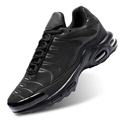 Socviis Men's Fashion Sneaker Air Running Shoes for Men Athletics Sport Trainer Tennis Basketball Shoes Black 8.5