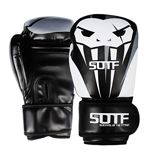 AUGYM Boxhandschuhe, 6 Unzen 8 Unzen 10 Unzen 12 Unzen Giftige Schlange Muay Thai Kickboxing MMA Kampfsport-Trainings-Handschuhe Boxhandschuhe Men Boxing Trainingshandschuhe,10oz