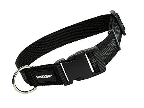 Mystique gummiertes Halsband 30mm Breite schwarz, Variante: 30-40cm