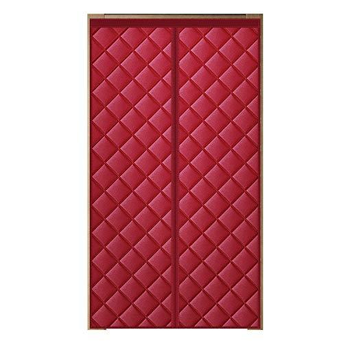 Winter Baumwolle Vorhang Haushaltswärme, magnetische automatische Schließung verdicken abgeschnitten wasserdichtes Oxford Tuch, Klettisolierung schalldichter Vorhang