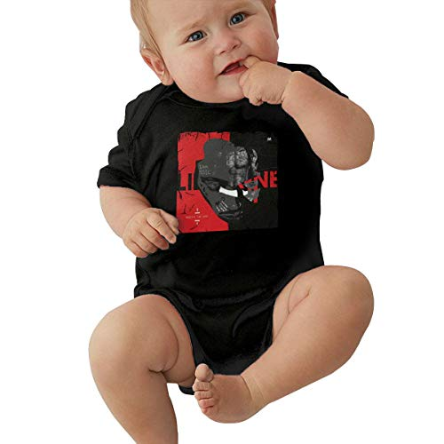 Lil Wayne Baby Onesies T-Shirt Baby Girls' Funny Cute Novelty Infant One-Piece Baby Bodysuit Personalized Black