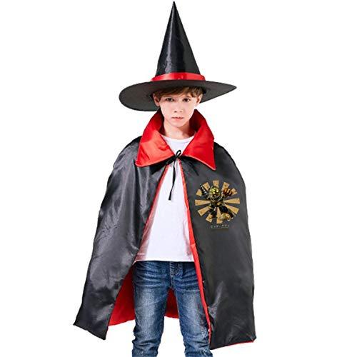 NUJSHF Big Daddy Retro Japanische Bioshock Unisex Kinder Kapuzenumhang Umhang Umhang Cape Halloween Party Dekoration Rolle Cosplay Kostüme Outwear