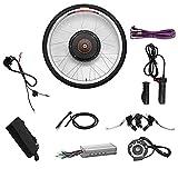 CRMY Kit de Motor de Bicicleta eléctrica, Kit de conversión de Motor de Bicicleta eléctrica, Kit de conversión de Motor de Cubo de Bicicleta eléctrica 48V 1000W, Rueda Delantera o Trasera