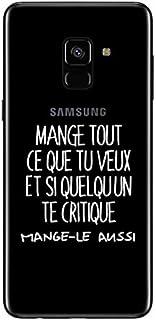 ZOKKO Case for Samsung A8 2018 Mange Tout Que tu Veux Transparent Soft White Ink