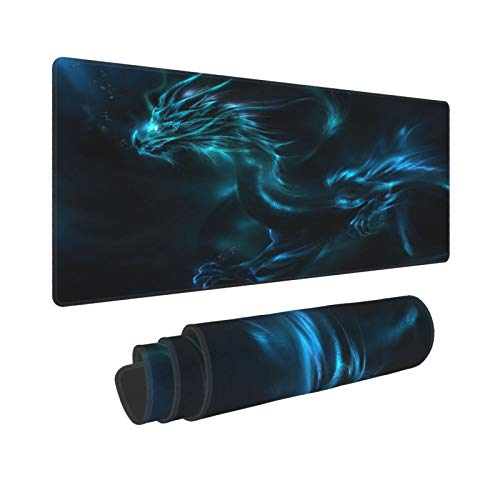 VICOW Large Gaming Dragon Pattern Mouse Pad Non-Slip Water-Resistant Base Computer Keyboard Mouse Mat Foldable Mat for Desktop