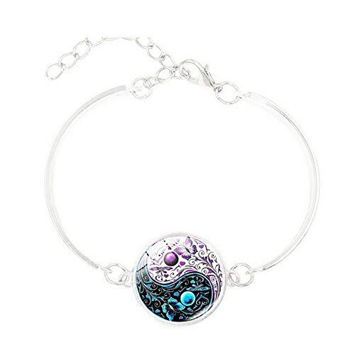 Moda Ying Yang mariposa cristal plata encanto infinito pulsera joyería, accesorios moda pulsera