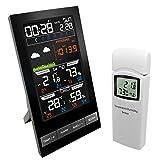 ZLASS Estación meteorológica, termómetro inalámbrico para Interiores y Exteriores, con Sensor Exterior y Pantalla LCD, Reloj Despertador meteorológico para detección de Temperatura y Humedad