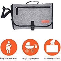 Sarcch Baby Portable Changing Pad Lightweight Travel Diaper Station Kit