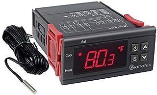 AC 110V Digital Temperature Controller Incubator Thermostat Fahrenheit 10A 2 Relays with Sensor