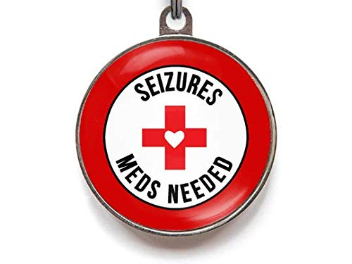 Seizures Meds Needed - Medical Alert Pet ID Tags (Large)