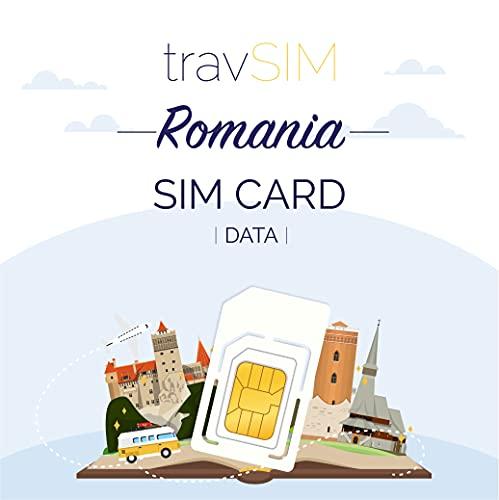 travSIM - Tarjeta SIM Prepaga Rumana(SIM de Datos para-Rumania) - 7GB de...