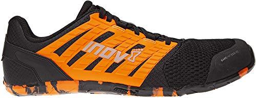 Inov-8 Mens's Bare XF 210 V2 – Minimalist Cross-Trainer & Running Shoes – Men's Barefoot Lifting Shoes - Black/Orange - 10.5