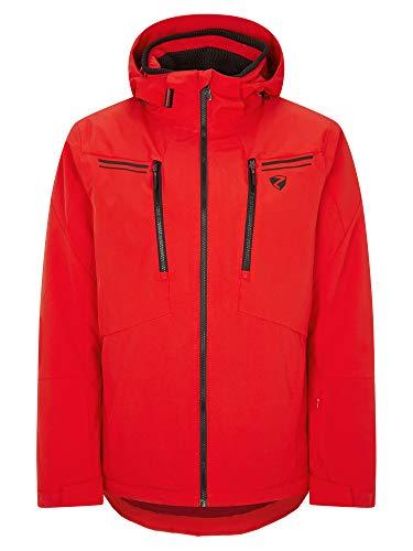 Ziener Herren TINTU Ski Snowboard-Jacke | Atmungsaktiv, Wasserdicht, red, 50