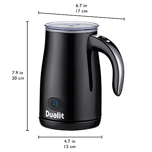 Dualit 84135 Triple Function-Heat Milk, Make hot/Cold Froth in 70 Seconds, Plastic, Black
