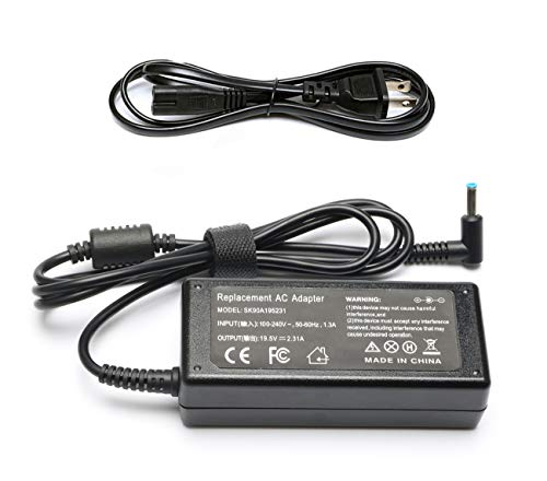 45W 19.5V 2.31A Laptop Adapter Charger for Hp Stream 11 13 14; Touchsmart 15 250 G3 255 G4 355 G2; Hp Spectre X360 hp Pavilion X2 11 13 15 719309-001 740015-004 Notebook Power Supply Cord