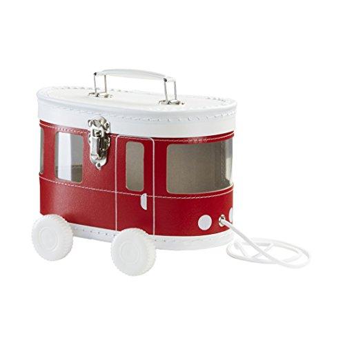 ByBoom - Baby Erinnerungsbox, Schatzkästchen, Aufbewahrungsbox, Geschenk zur Geburt, zur Taufe, Farbe:Rot - Trambahn