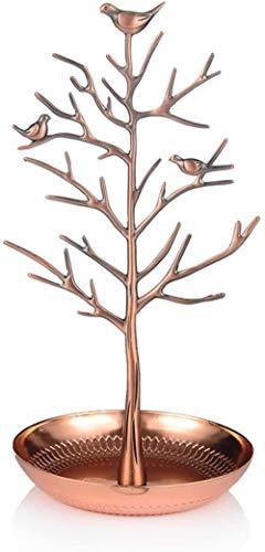 DJDL Silver Bird Tree Jewelry Rack, soporte de collar para pendientes, máquina...
