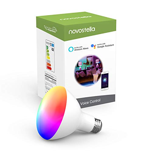 Novostella Smart Bulb, RGBCW Wi-Fi LED Light Bulb BR30[10W 1050LM] Dimmable Multicolored Lights No Hub Required