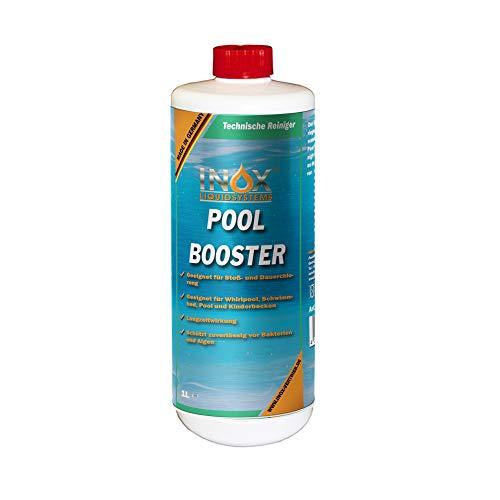 INOX® Pool Booster, 1L - Poolreiniger Algenentferner Pooldesinfektion