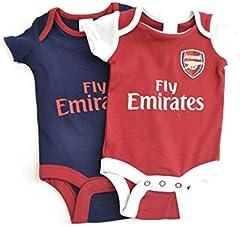 Arsenal FC – Juego de 2 Trajes para bebé (0 – 3 Meses)